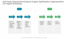 Half Yearly Organizational Search Engine Optimization Implementation For Progress Roadmap Demonstration