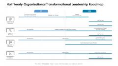 Half Yearly Organizational Transformational Leadership Roadmap Guidelines