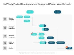 Half Yearly Product Development And Deployment Planner Work Schedule Demonstration