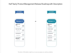 Half Yearly Product Management Release Roadmap With Description Elements