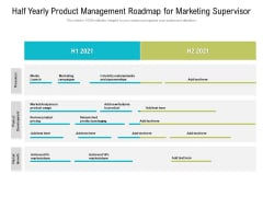 Half Yearly Product Management Roadmap For Marketing Supervisor Guidelines
