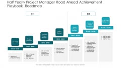 Half Yearly Project Manager Road Ahead Achievement Playbook Roadmap Portrait