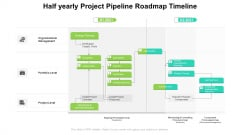 Half Yearly Project Pipeline Roadmap Timeline Mockup