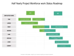 Half Yearly Project Workforce Work Status Roadmap Inspiration