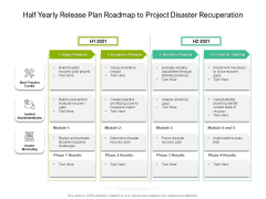 Half Yearly Release Plan Roadmap To Project Disaster Recuperation Professional