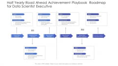 Half Yearly Road Ahead Achievement Playbook Roadmap For Data Scientist Executive Microsoft