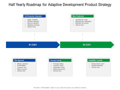Half Yearly Roadmap For Adaptive Development Product Strategy Download