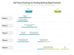 Half Yearly Roadmap For Building Banking Digital Assistant Guidelines