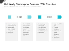 Half Yearly Roadmap For Business ITSM Execution Professional