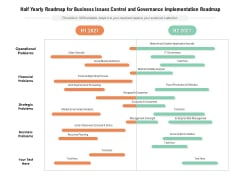 Half Yearly Roadmap For Business Issues Control And Governance Implementation Roadmap Sample
