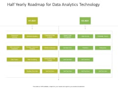 Half Yearly Roadmap For Data Analytics Technology Icons