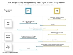 Half Yearly Roadmap For Implementing Smart Digital Assistant Using Chatbots Brochure
