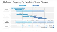 Half Yearly Roadmap For New Sales Tenure Planning Microsoft