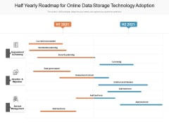Half Yearly Roadmap For Online Data Storage Technology Adoption Download
