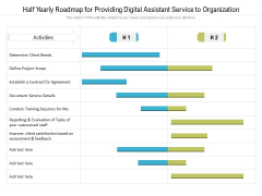 Half Yearly Roadmap For Providing Digital Assistant Service To Organization Graphics