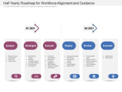 Half Yearly Roadmap For Workforce Alignment And Guidance Diagrams