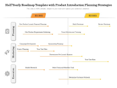 Half Yearly Roadmap Template With Product Introduction Planning Strategies Portrait