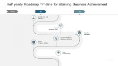 Half Yearly Roadmap Timeline For Attaining Business Achievement Download