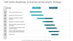 Half Yearly Roadmap To Business Achievement Strategy Ppt Infographic Template Guide PDF