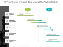 Half Yearly Roadmap To Corporate Social Accountabilities Roadmap Strategies Designs