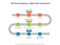 Half Yearly Roadmap To Rapid Client Achievement Mockup