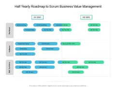 Half Yearly Roadmap To Scrum Business Value Management Ideas