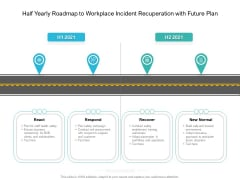Half Yearly Roadmap To Workplace Incident Recuperation With Future Plan Professional