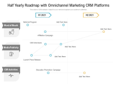 Half Yearly Roadmap With Omnichannel Marketing CRM Platforms Introduction