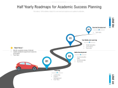 Half Yearly Roadmaps For Academic Success Planning Graphics