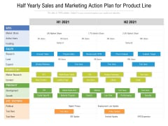 Half Yearly Sales And Marketing Action Plan For Product Line Topics