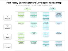 Half Yearly Scrum Software Development Roadmap Summary