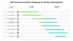 Half Yearly Scrum Sprint Roadmap For Product Development Guidelines
