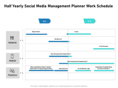 Half Yearly Social Media Management Planner Work Schedule Download