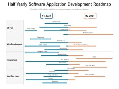 Half Yearly Software Application Development Roadmap Clipart