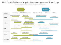 Half Yearly Software Application Management Roadmap Template
