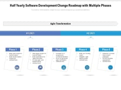 Half Yearly Software Development Change Roadmap With Multiple Phases Infographics