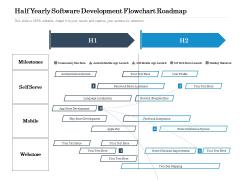 Half Yearly Software Development Flowchart Roadmap Background