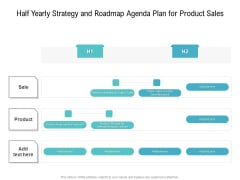 Half Yearly Strategy And Roadmap Agenda Plan For Product Sales Pictures
