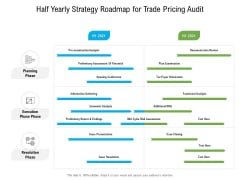 Half Yearly Strategy Roadmap For Trade Pricing Audit Demonstration
