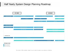 Half Yearly System Design Planning Roadmap Elements
