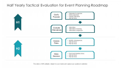 Half Yearly Tactical Evaluation For Event Planning Roadmap Infographics