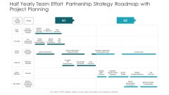 Half Yearly Team Effort Partnership Strategy Roadmap With Project Planning Guidelines