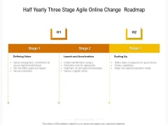 Half Yearly Three Stage Agile Online Change Roadmap Microsoft