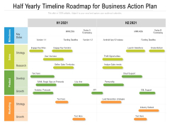 Half Yearly Timeline Roadmap For Business Action Plan Graphics