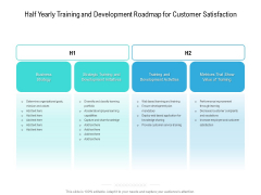 Half Yearly Training And Development Roadmap For Customer Satisfaction Elements