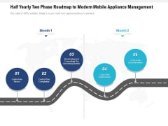 Half Yearly Two Phase Roadmap To Modern Mobile Appliance Management Template