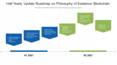 Half Yearly Update Roadmap On Philosophy Of Existence Blockchain Icons