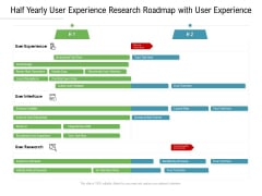 Half Yearly User Experience Research Roadmap With User Experience Professional