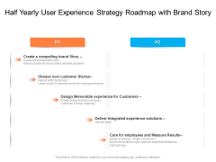 Half Yearly User Experience Strategy Roadmap With Brand Story Structure