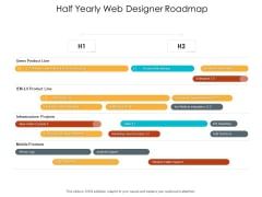 Half Yearly Web Designer Roadmap Download